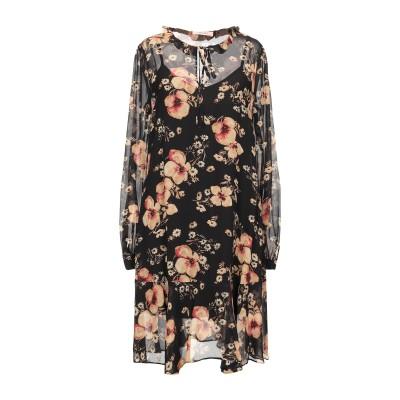 ツインセット シモーナ バルビエリ TWINSET ミニワンピース&ドレス ブラック 42 レーヨン 100% ミニワンピース&ドレス