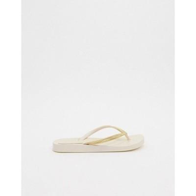 イパネマ レディース サンダル シューズ Ipanema Anatomica Mesh flip flop sandal in ivory Ivory