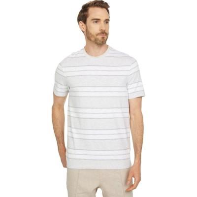 マイケル コース Michael Kors メンズ Tシャツ トップス Slub Color-Block Stripe Tee Snow Heather