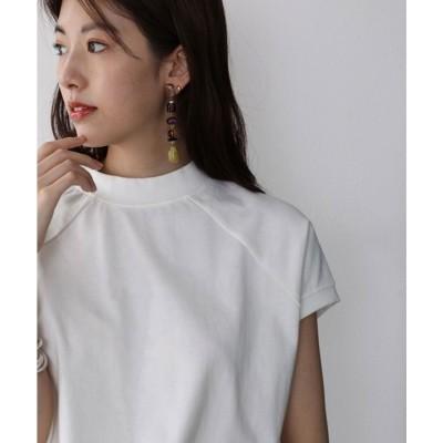 クラシカルエルフ Classical Elf  バックプリント フレンチラグラン 無地クルーネックTシャツ(袖なし) (ホワイト)