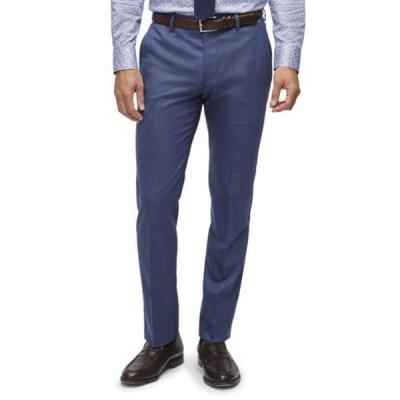 ボノボス カジュアルパンツ ボトムス メンズ Jetsetter Regular Fit Windowpane Stretch Wool Trousers Bright Blue Deco Check