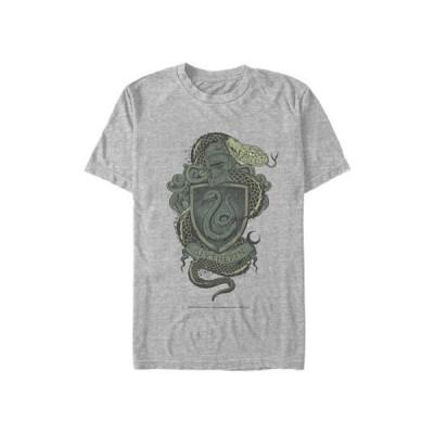 フィフスサン メンズ Tシャツ トップス Harry Potter Slytherin House Crest Graphic T-Shirt