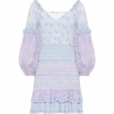 ラブシャックファンシー LoveShackFancy レディース ワンピース ワンピース・ドレス Ensley floral cotton minidress Blueberry Dust