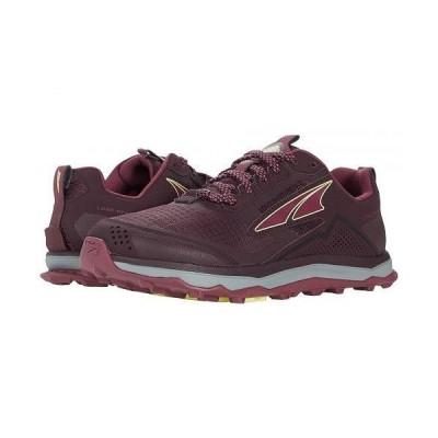 Altra Footwear オルタフットウエア レディース 女性用 シューズ 靴 スニーカー 運動靴 Lone Peak 5 - Dark Port/Light Rose