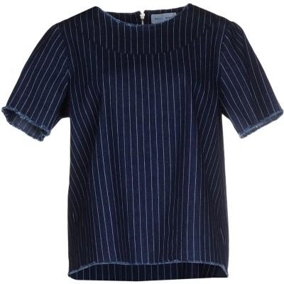 WEILI ZHENG デニムシャツ ブルー M コットン 75% / ポリエステル 23% / ポリウレタン 2% デニムシャツ