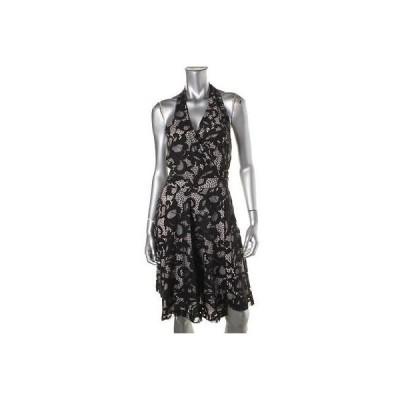 ドレス ワンピース Diane Von Furstenberg Diane Von Furstenberg 9528 レディース Lace Halter Knee-Length ラップ ドレス BHFO