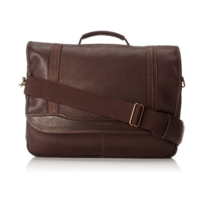 Samsonite Columbian Leather Briefcase, Brown, Flapover