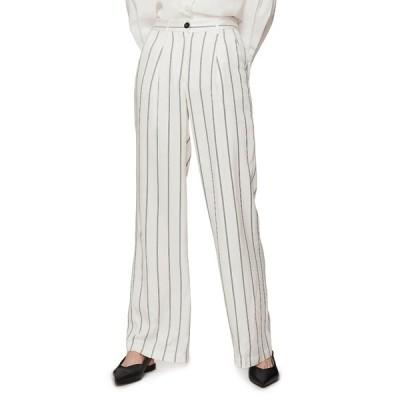 アニービン カジュアルパンツ ボトムス レディース Ryan Stripe Trousers Cream And Black