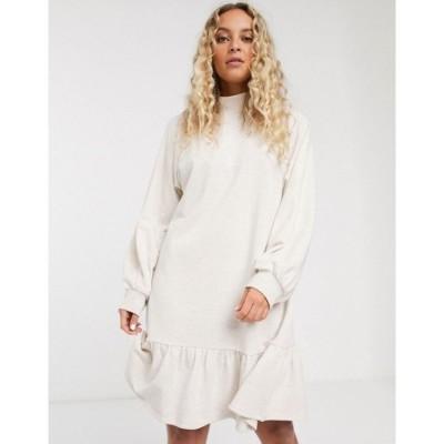 モンキー Monki レディース ワンピース ワンピース・ドレス organic cotton jersey smock dress in beige ベージュ