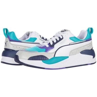 プーマ X-Ray 2 Square メンズ スニーカー 靴 シューズ Puma White/Viridian Green/Gray Violet/Peacoat