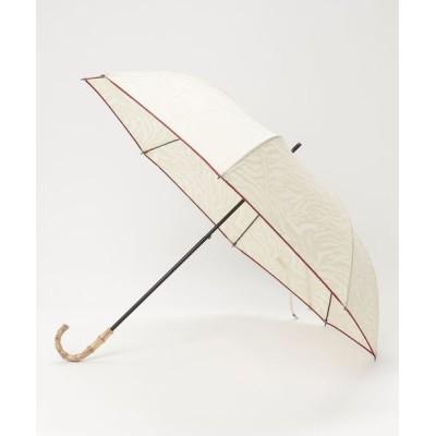 salle de bal / 晴雨兼用 コットンポリ透かし柄ゼブラショートワイド 折りたたみ傘 27377 WOMEN ファッション雑貨 > 折りたたみ傘