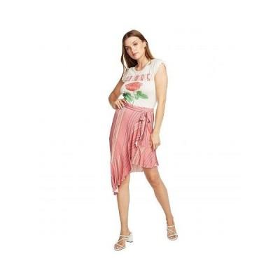 Chaser チェイサー レディース 女性用 ファッション スカート Cool Jersey Flamenco Skirt - Pink Stripe