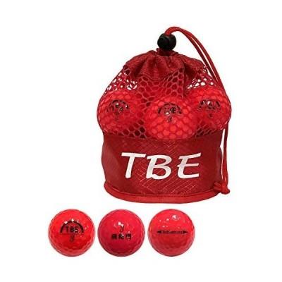 ゴルフボール TOBIEMON 飛衛門 パールボール R&A公認球 T-2PR パールレッド 3ダース(36球)セット  (赤)