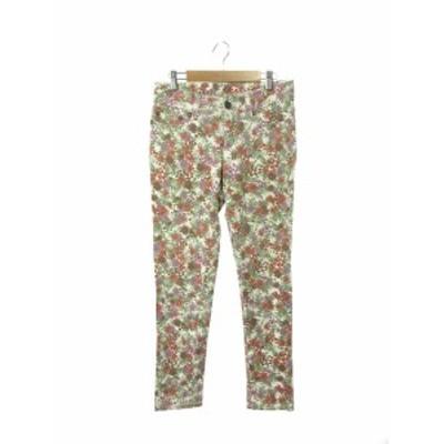 【中古】カリアング KariAng Jeans パンツ テーパード 花柄 ジップフライ M 赤 レッド /KS レディース