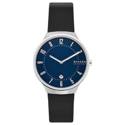 あすつく スカーゲン SKAGEN 腕時計 メンズ GRENEN グレーネン ネイビー ブラックレザー SKW6548