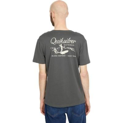 クイックシルバー Quiksilver Waterman メンズ Tシャツ トップス Paradise Short Sleeve Tee Dark Shadow