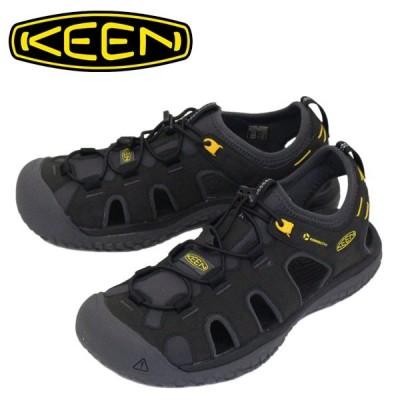 KEEN (キーン) 1022246 Men's SOLR SANDAL ソーラー サンダル BLACK/GOLD KN451