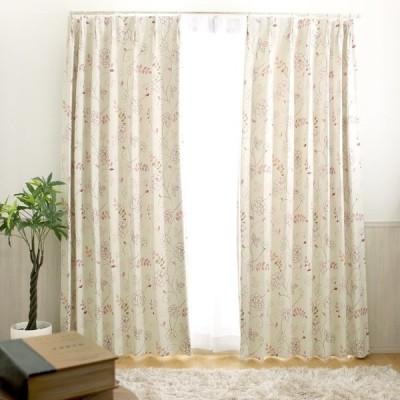 1cm刻み カーテン かわいい 遮光 安い おしゃれ オーダー 2級遮光 洗える ソフィーピンク 1.5倍ヒダ