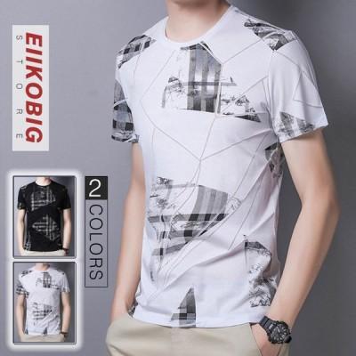 メンズTシャツ 春夏 半袖  合わせやすい カジュアル おしゃれ  トレンド  シャツ トップス インナー カジュアル 吸汗 速乾 シンプル