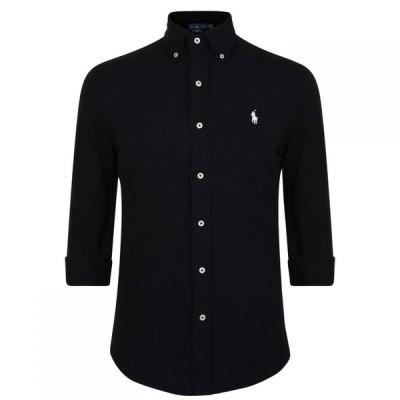 ラルフ ローレン Polo Ralph Lauren メンズ シャツ トップス Pique Shirt Polo Black