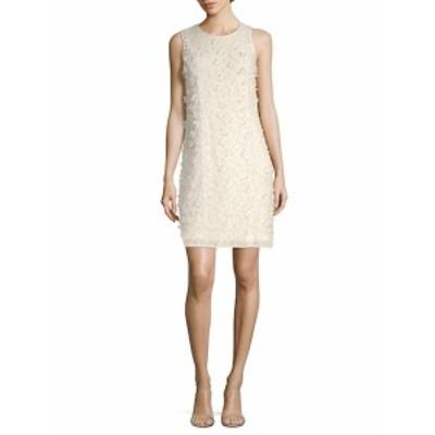 カールラガーフェルドパリ レディース ワンピース Floral Applique Sleeveless Sheath Dress