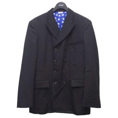 COMME des GARCONS HOMME PLUS 20AW 裏地総柄ダブルテーラードジャケット ブラック サイズ:XS (代官山店) 2104