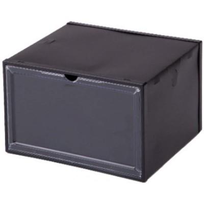横扉スニーカーボックス クリアファイル型 (黒, 1)