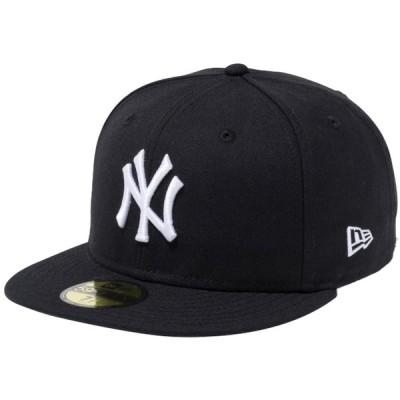 ニューエラ 5950キャップ ホワイトロゴ ニューヨークヤンキース ブラック ホワイト New Era 59FIFTY Cap White Logo New York Yankees Black White