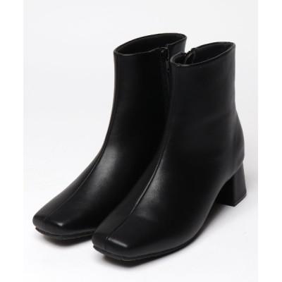 archives / 【EVOL】スクエアショートブーツ WOMEN シューズ > ブーツ