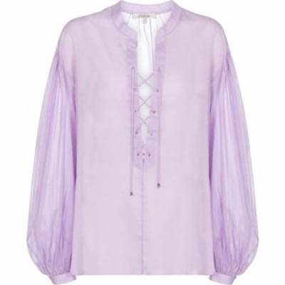ドロシー シューマッハ Dorothee Schumacher レディース ブラウス・シャツ トップス transparent fantasy cotton blouse Soft Lilac