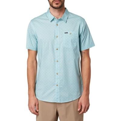 オニール O'NEILL メンズ 半袖シャツ スリム トップス Tame Slim Fit Stretch Short Sleeve Button-Up Shirt Ice Water