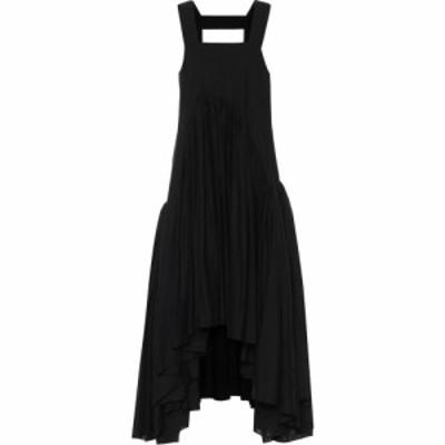 ロエベ Loewe レディース パーティードレス ミドル丈 ワンピース・ドレス Paulas Ibiza linen-blend midi dress Black