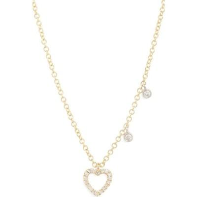 メイラ ティー MEIRA T レディース ネックレス ハート ジュエリー・アクセサリー Meira Pave Diamond Heart Pendant Necklace Yellow Gold