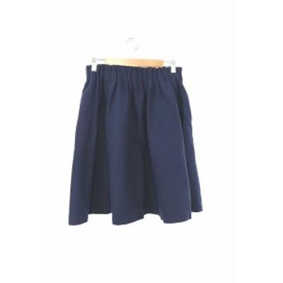 【中古】ロッソ ROSSO アーバンリサーチ スカート ギャザー ひざ丈 38 青 ブルー /RT20 レディース
