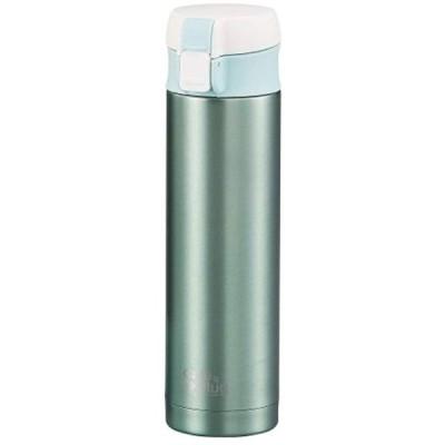 水筒 300ml 直飲み ステンレス スリム ワンタッチ マグ カフェマグ H-7557(アップルグリーン)