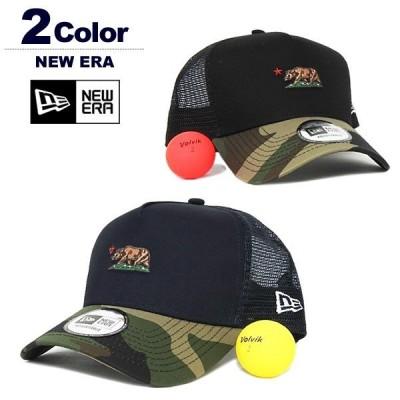 ニューエラ 帽子 キャップ メンズ 9FORTY AFTrucker ゴルフ メッシュ コットン NEWERA CaliforniaBear 2019秋冬