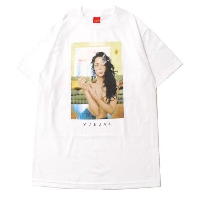 ビジュアル V/SUAL LIT S/S Tシャツ WHITE/ホワイト Tシャツ 半袖