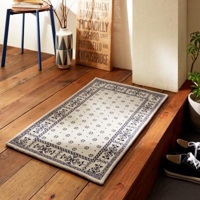 バンダナデザインのゴブラン織りすべりにくい玄関マット