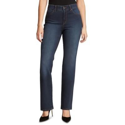 グロリアバンデービルト レディース デニムパンツ ボトムス Petite High-Rise Relaxed Straight-Leg Jeans in Petite & Petite Short