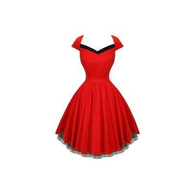 ハーツアンドローズロンドン ドレス ワンピース ハートs and ローズs London レッド Flaレッド 50s スタイル ビンテージ パーティ Prom ドレス