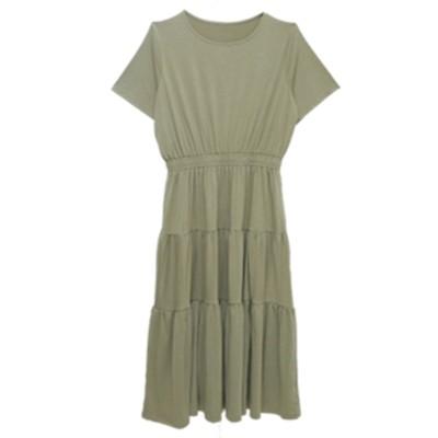 大きいサイズ 半袖ティアードワンピース ,スマイルランド, ワンピース, plus size dress