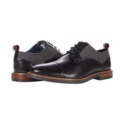 Ben Sherman ベンシャーマン メンズ 男性用 シューズ 靴 オックスフォード 紳士靴 通勤靴 Brent Cap Toe - Black Leather