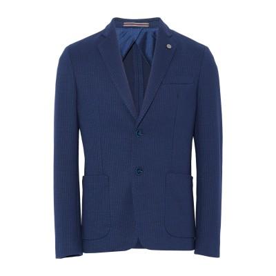 HAVANA & CO. テーラードジャケット ブルー 50 コットン 80% / ポリエステル 10% / ナイロン 10% テーラードジャケット