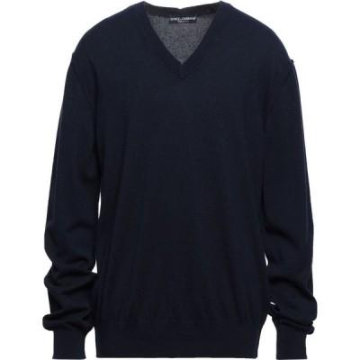 ドルチェ&ガッバーナ DOLCE & GABBANA メンズ ニット・セーター トップス cashmere blend Dark blue
