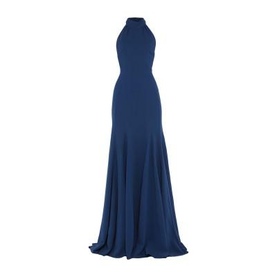ステラ マッカートニー STELLA McCARTNEY ロングワンピース&ドレス ブルー 40 レーヨン 64% / アセテート 32% / ポリ