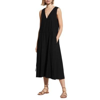 ヴィンス レディース ワンピース トップス Drawstring Sleeveless V-Neck Dress