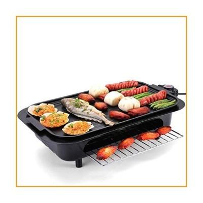 [新品]Electric Raclette Grill Outdoor and Indoor,Smokeless Grill with Removable Easy-to-Clean Nonstick Plate, Extra-Large Drip Tray[