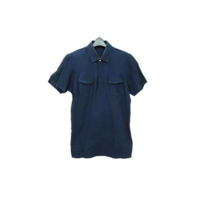 UNIQLO +J ユニクロ 「L」 ネイビー 鹿の子 半袖ポロシャツ