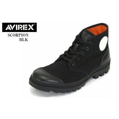 (アヴィレックス)AVIREX U.S.A. AV3302 SCORPION スコーピオン ミッドカット カジュアル編み上げブーツ メンズ ハイカットでおなじみのスコーピ