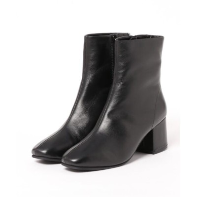 BETTY CLUB / リアルレザー スクエアトゥ ショートブーツ WOMEN シューズ > ブーツ
